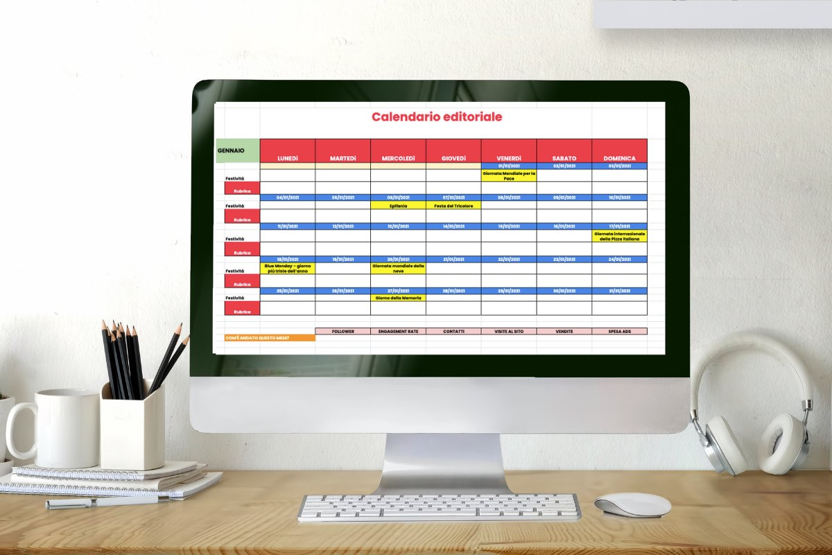 Calendario Editoriale 2021: il template in formato excel