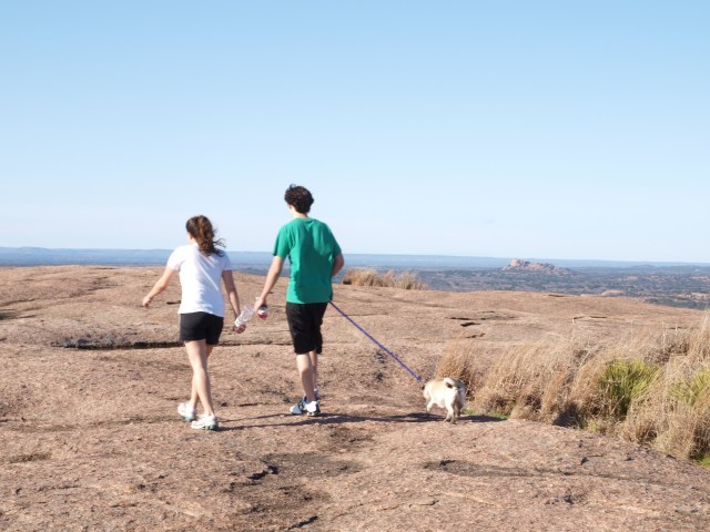 My Sister and Brother at Enchanted Rock