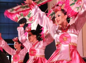 Members of the dance troupe from the Almaty Korean Cultural Center. Koreans from the Far East were forcibly relocated to Central Asia by Stalin beginning in 1937. Soviet Korean (Koreyo Saram) populations can be found throughout the former Soviet countries.