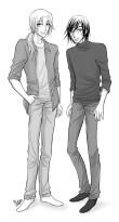 Två av mina karaktärer i serien Love is Blind (GUYS 2012) Digital. 2013