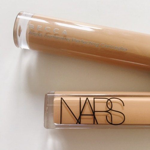 Becca Aqua Luminous Concealer and Nars Radiant Creamy Concealer