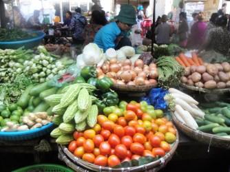 A market in Phnom Penh