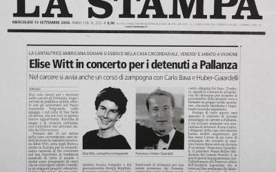 Elise Witt in concerto per i detenuti a Pallanza