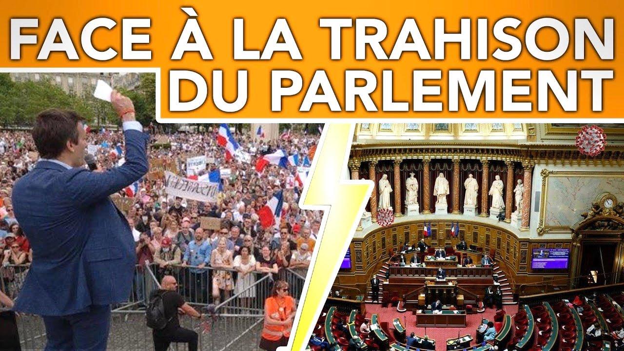 Pass Sanitaire. Soumission du Parlement et Résistance Massive