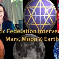 Intervention de la Fédération Galactique sur Mars, la Lune et la Terre
