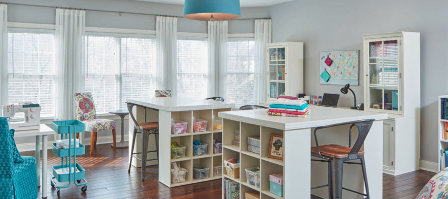 Creative Workspaces Gallery Clever Organized Craft Room Ideas