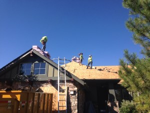 The crew is underway building out this roof in Parker, CO.