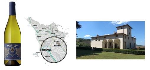 bouteille de pomino bianco chardonnay frescobaldi
