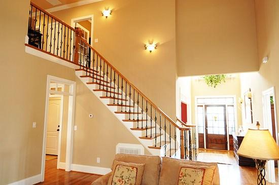 Stairs Rails Elite Construction | Wrought Iron And Wood Railing | Iron Baluster | Rustic | Split Foyer | Horizontal | Banister