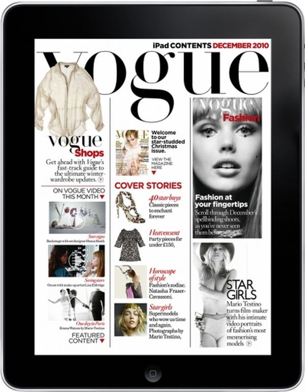 Vogue iPad App Contents Vogue Brings Out Its First iPad App