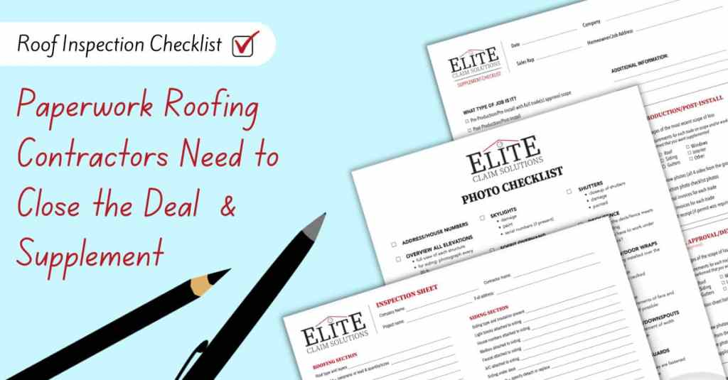 Paperwork Roofing Contractors Need to close the deal