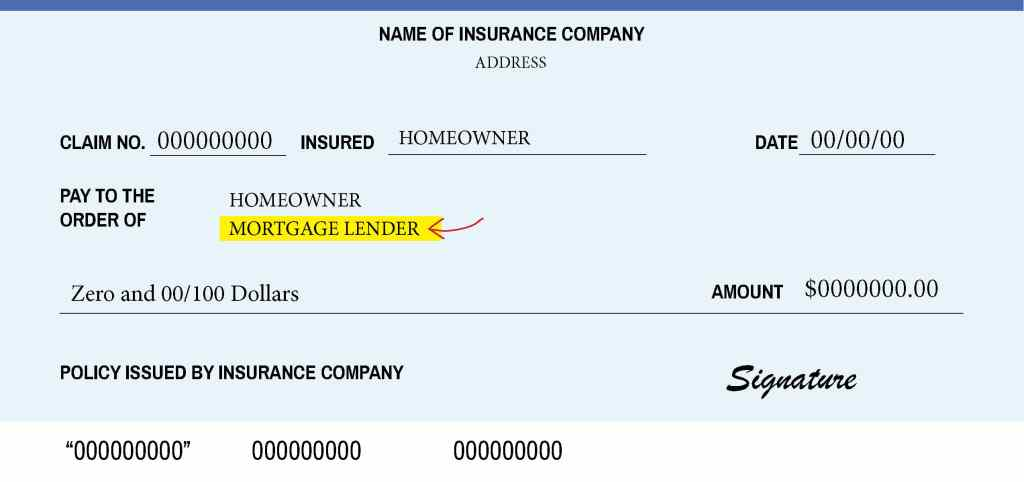 Example of insurance check front