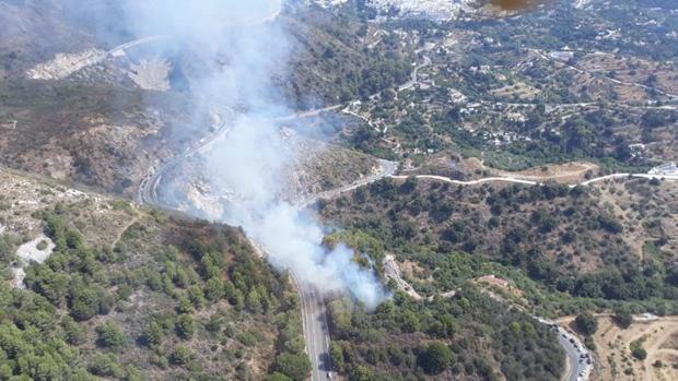 Controlado el incendio forestal de Ojén