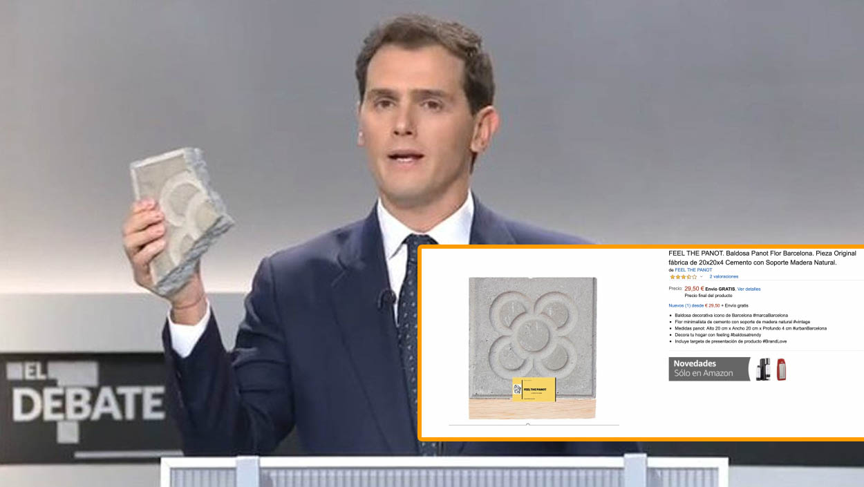 El adoquín de Albert Rivera triunfa en Amazon