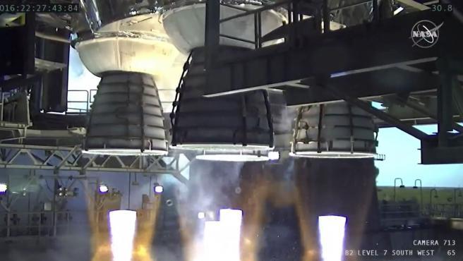 La NASA estudia un fallo en el cohete SLS para la misión Artemisa 1 a la Luna