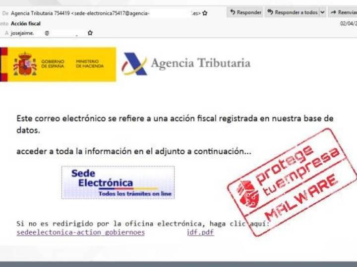 ¡Atención! Ciberdelincuentes suplantan a la Agencia Tributaria y podrían estafarte