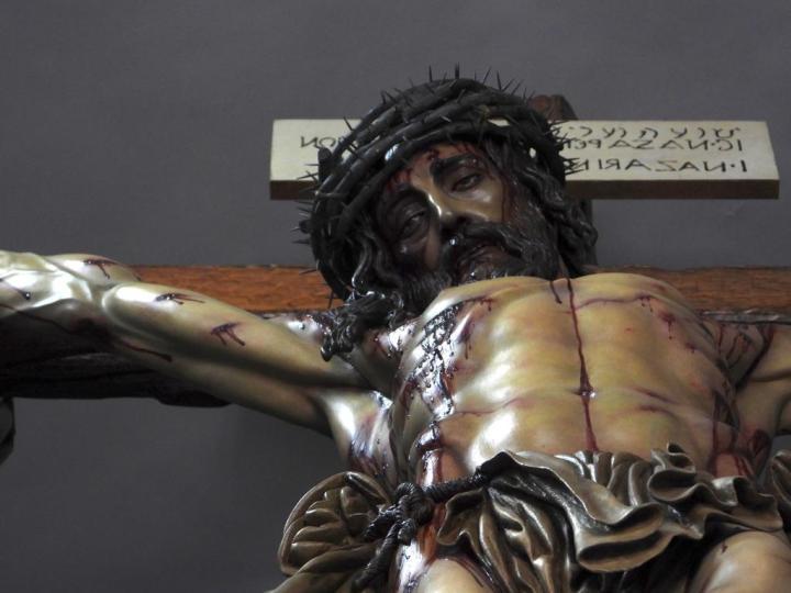 El impresionante Cristo Sindónico de Juan Miñarro estará expuesto en Santa Marina hasta su partida a Miami