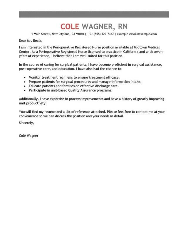 nurse cover letter   Ownerletter.co