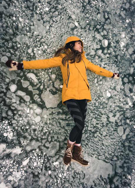 Nordegg frozen bubbles