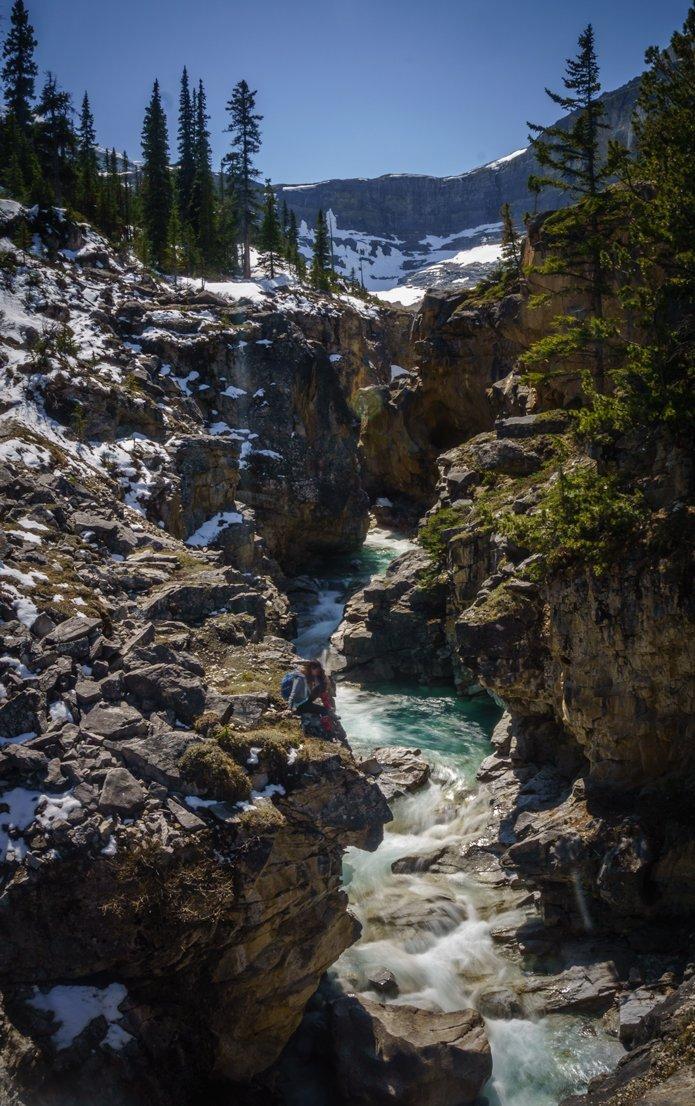 bow glacier falls hike