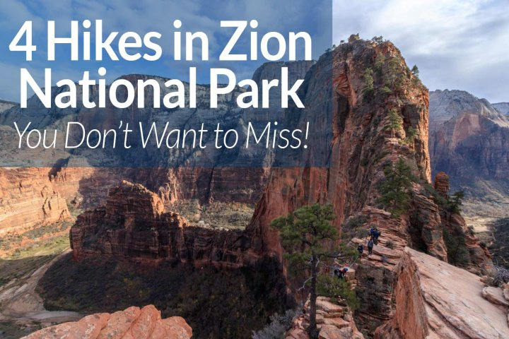 4 hikes in Zion national park