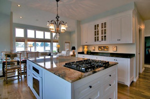 Kitchen Island with Gas Stovetop