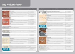 Dry-Treat Easy Product Selector