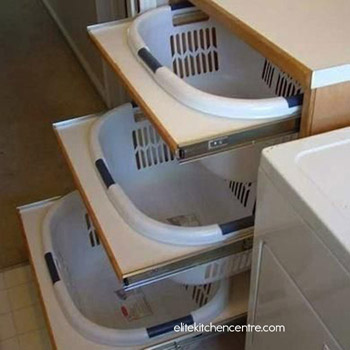 Add a sorting station to your laundry room.