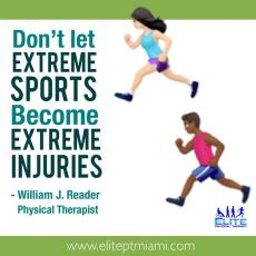 Don't let extreme sports become extreme injuries. Visit a physical therapist for a functional checkup!