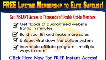 Free website traffic with credit based safelist advertising