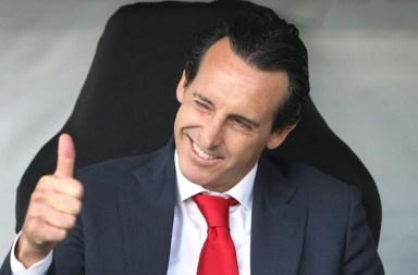 AFP / Daniel ROLAND L'entraîneur d'Arsenal Unai Emery lors du match de Ligue Europa, le 19 septembre 2019 à Francfort