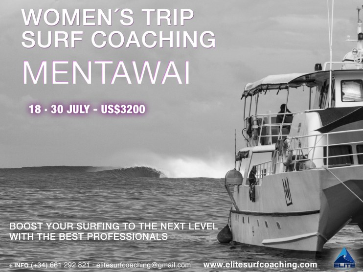 Elite Surf Coaching Mentawai Women's Surf Coaching Trip flyer