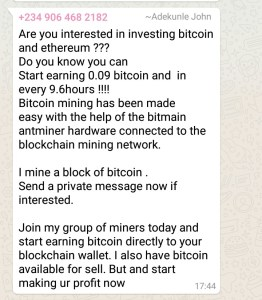 Bitcoin Seller Scammers
