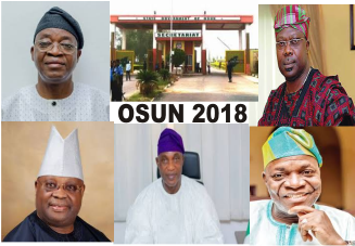 OSUN 2018 Major Gubernatorial Candidates