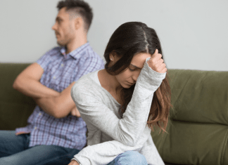 depressed woman relationship time