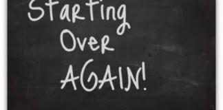 starting over again