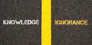 ignorance vs knowledge