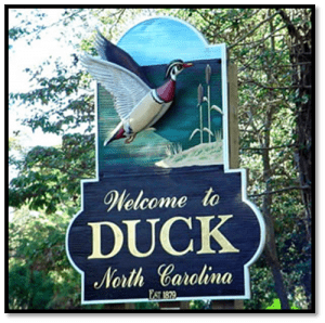 welcome to duck North Carolina