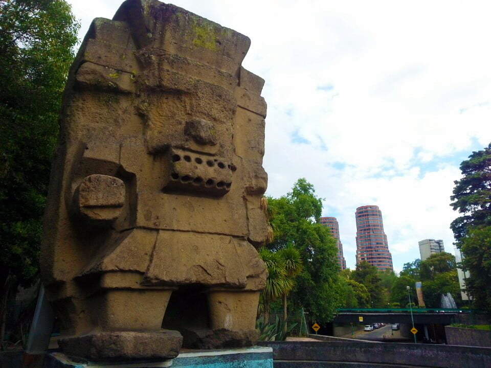 Monolith of Aztec God Tlaloc Outside of the National Museum of Anthropology