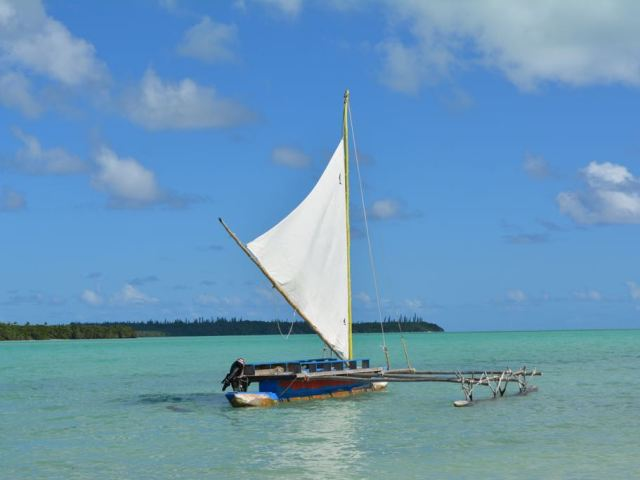 A traditional outrigger in St Joseph