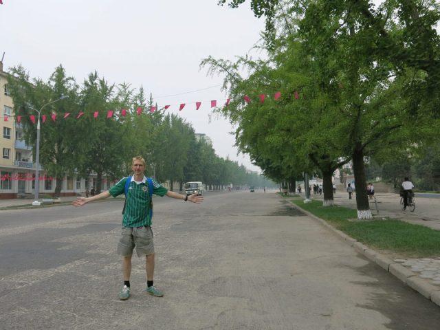 Jonny Blair backpacking in Kaesong - North Korea