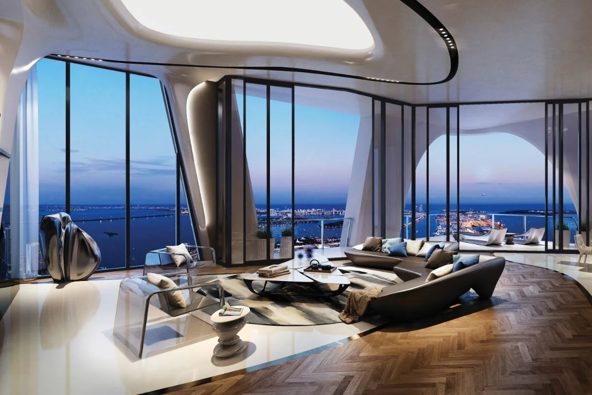 Duplex Penthouse One Thousand Museum Miami Florida