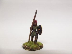 Spear and shield advancing