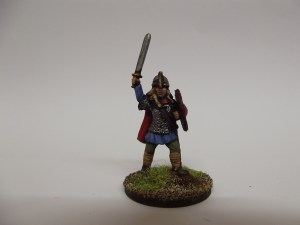 Chieftain in armour with sword