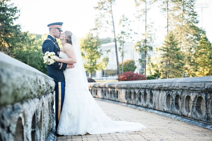 Katie and Tyson's Kiss - West Point wedding