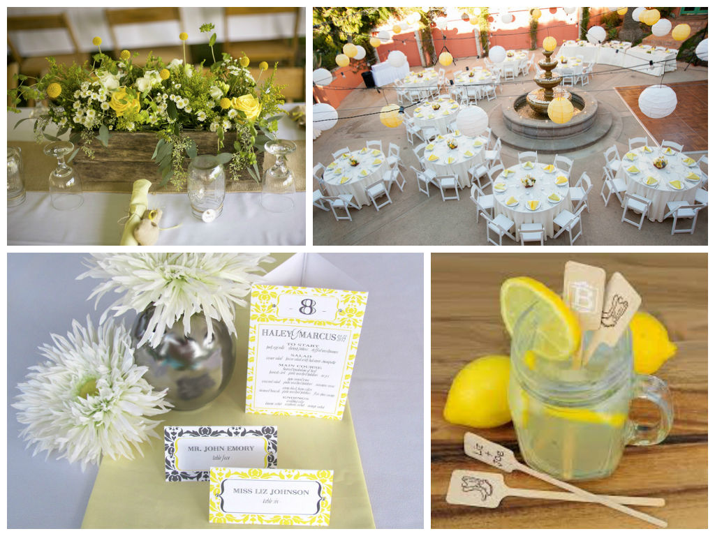 Yellow And Gray Wedding Decor Elite Wedding And Event Planning