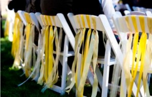 wedding charis with Ribbon
