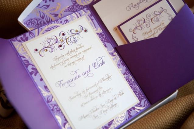 Purple And Gold Wedding Invitations: 5 Unique Wedding Color Palettes