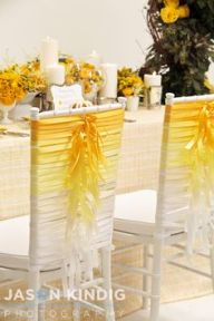 ribbon wedding chair back