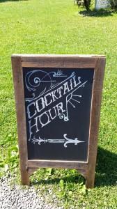 cocktail hour chalkboard